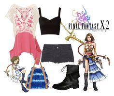 """Final Fantasy X-2 Yuna"" by dreadwolf ❤ liked on Polyvore featuring Superdry, J Brand, Dorothy Perkins, Carlos by Carlos Santana, Beston, Wildfox, Lipsy, combat boots, final fantasy and final fantasy x-2"