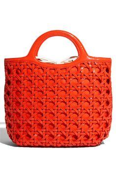 bright orange purse