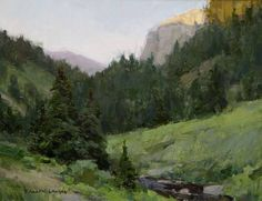 t. allen lawson paintings | Last Rays of Light Along the Little Tongue River