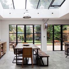 Optimaal effect door de lichtstraat zoveel mogelijk in het hart van het huis te plaatsen.