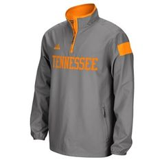 Tennessee Volunteers adidas 2014 Football Sideline Coaches 1/4 Zip Long Sleeve Woven Jacket - Gray