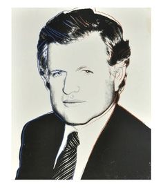 1980 Warhol Edward Kennedy (FS II.240) | From a unique collection of portrait prints at https://www.1stdibs.com/art/prints-works-on-paper/portrait-prints-works-on-paper/