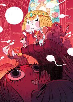 Character Art, Character Design, Sketch Manga, Wall Drawing, Cartoon Background, Cyberpunk Art, Behance, Visual Development, Children's Book Illustration