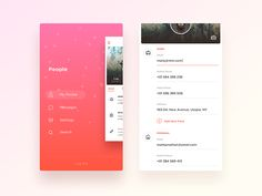 Mobile menu inspiration – Muzli -Design Inspiration