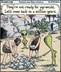 More fun from the creator of Bizarro Comics. Funny Cartoon Pictures, Cartoon Jokes, Funny Cartoons, Funny Memes, Hilarious, Bizarro Comic, Aliens Funny, Fun Comics, Comics Story