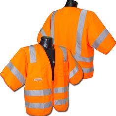 Radians Hi Vis Orange Solid Vest Class 3 Vests, Safety, Orange, Fashion, Security Guard, Moda, Fasion, Trendy Fashion, La Mode
