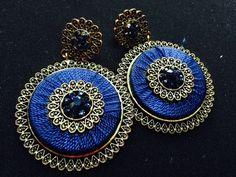 Royal blue earings.
