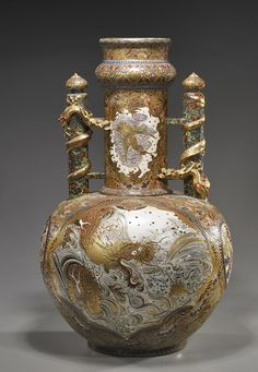 Lot: Large Japanese Satsuma/Kyoto Ware Urn, Lot Number: 0315, Starting Bid: $400, Auctioneer: I.M. Chait Gallery/Auctioneers, Auction: ASIAN ART, ANTIQUES & ESTATES AUCTION, Date: November 11th, 2012 UTC