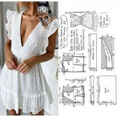 Diy Clothing, Sewing Clothes, Dress Sewing Patterns, Clothing Patterns, Fashion Sewing, Diy Fashion, Diy Clothes Design, Costura Fashion, How To Make Clothes