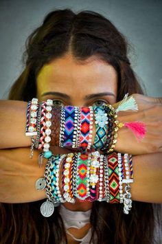 Colorful wrist art...