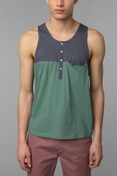 Shades of Grey by Micah Cohen Colorblock Tank Top  #UrbanOutfitters