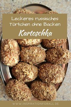 Russisches Törtchen Kartoschka kannst du einfach und schnell ohne Backen machen. Hier findest du das Rezept dafür mit einer Schritt-für-Schritt-Anleitung. Süße Kartoschka ist ein perfektes Dessert, z.B. zu Weihnachten, Silvester, Ostern oder zum Geburtstag. Über diesen Nachtisch freuen sich sowohl Erwachsene als auch Kinder. #kartoschka #törtchen #kuchenohnebacken #dessert #nachtisch #rezept
