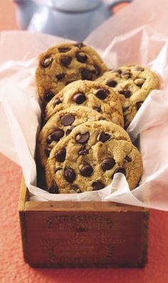 "A cookie-jar favorite, these five-star chocolate chip cookies bake up in next to no time. Betty member MJbutterflies says ""I will never use another one because these are absolute PERFECTION!"""