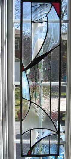 combination of artglass, slumped glass and decorative solder