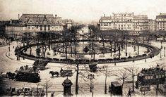 La place d'Italie et son beau square, vers 1905 (Paris 13ème)