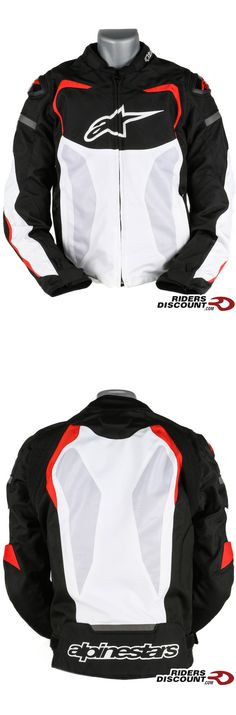 The Alpinestars Men's T-GP Pro Air Armored Textile Motorcycle Jacket features large mesh panels that allow excellent airflow. Don't let the heat keep you from wearing a protective jacket!