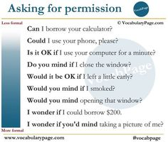 Asking for permission in English #learnenglish
