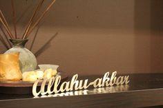 Allah ho akbar stainless steel wall art decor, islamic art, modern, contemporary, islam, custom, allah art, islamic decor on Etsy, $25.00