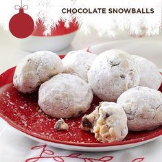 Taste of Home's Cookie Countdown: Chocolate Snowballs! Always a favorite on the cookie tray reminding us of winter fun. Thanks to Dee Derezinski of Waukesha, Wisconsin for sharing the recipe!