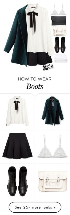 """""""#SheIn"""" by credentovideos on Polyvore featuring The Leather Satchel Co., Frette, H&M and Curriculum Vitae"""