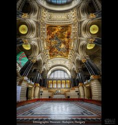 Ethnographic Museum – Budapest, Hungary (HDR Vertorama)  This image was shot in the Ethnographic Museum in Budapest. It was a hot and sunny day, and everyone was either taking a nice bath or they were visiting the parliament building right across the street. So, I was virtually alone.