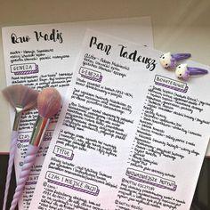 Handwriting, Bujo, Life Hacks, Literature, Polish, Notes, Study, Science, Paint