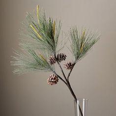 """Faux Botanicals, Pine Needle Stem, 22"""""""