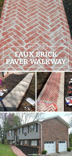 Stencil a Faux Brick Paver Walkway Wall Stencils Can Easily Create A Faux Brick Walkway Good morning, my Cutting Edge Stencils friends! Did you know that our stencil patterns can easily assist with any budget friendly DIY…
