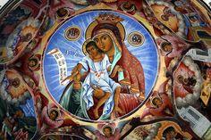 Frescoe in Rila Monastery, Bulgaria