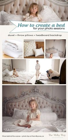 3 ingredient bed set-up! Duvet, throw pillows + 'headboard backdrop' more tips n' tricks at themilkyway.ca