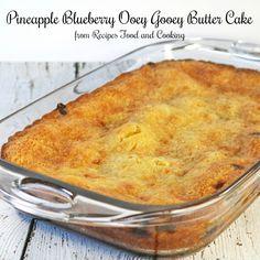 Pineapple Blueberry Ooey Gooey Butter Cake