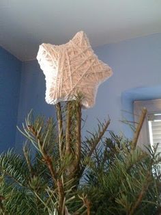 yarn-covered star topper
