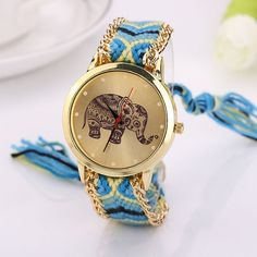 0.9$  Watch now - 2017 New Women Watches Quartz-watch Elephant Rope Bracelet Casual Dress Watch Clock Quartz Dial Wristwatch Relojes Mujer   #magazineonlinebeautiful