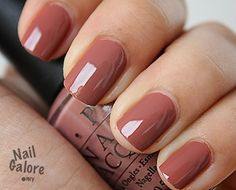 OPI Chocolate mousse, what a great color!