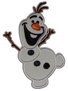 Olaf #snowman frozen film #disney embroidered iron sew on #patch badge applique ,  View more on the LINK: 	http://www.zeppy.io/product/gb/2/371465597963/