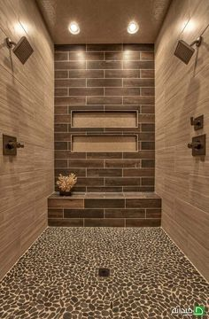 Charcoal Black Pebble Tile Awesome shower with Sliced Black pebble tile shower pan tile.Awesome shower with Sliced Black pebble tile shower pan tile. Dream Bathrooms, Beautiful Bathrooms, Small Bathroom, Bathroom Ideas, Bathroom Designs, Shower Designs, Master Bathrooms, Budget Bathroom, Colorful Bathroom