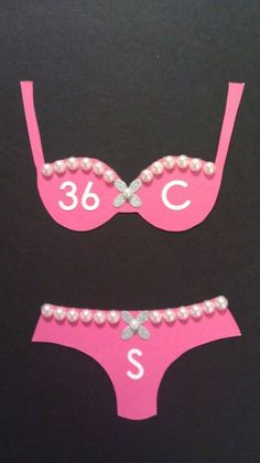 Very cute idea. Include the size of bras and panties for the bride, so u get the right fit! Baby I'm guessing 34 C small....