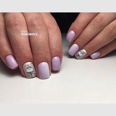 Мимишное настроение для будущей мамочки . Аппаратная обработка кутикулы , укрепление ногтей базой #luxiogel , покрытие Luxio Precious , вертикальный градиент , и дизайн #отруки гелями Luxio  #nails_korobova
