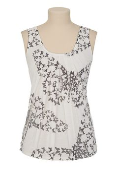 Sublimated Butterfly Print Tank - maurices.com