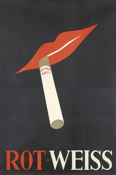 JUPP WIERTZ (1881-1939) Size: 37 x 56 3/8 in./94 x 143.2 cm Condition: A-/ Slight tears at seam and edges. Printer: Reference: Key Words: Tobacco; Art Deco; Modern  Rot-Weiss Muratti. ca. 1931.