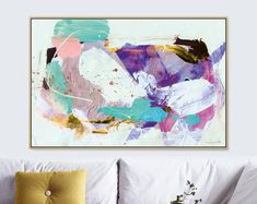 Large Abstract printable art, Abstract Painting, Oversized Art Prints, Purple Abstract Art, Instant download art, large abstract art print