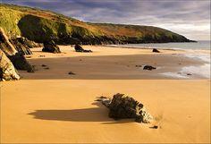 Goat Island Beach near Ardmore, County Waterford, Ireland.