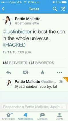 that's not patties tweet cause she's not verified and her username isn't spelled right