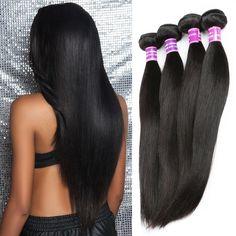 """ZSF Hair 7A Grade Peruvian Virgin Hair Straight 3 Bundles 100% Human Hair Extension 12""""14""""16"""" Straight Hair Bundles"""