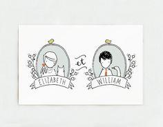 Wedding card by Kathryn Whyte