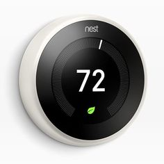 Meet the gen Nest Learning Thermostat, now in White - the Nest Thermostat programs itself to automatically help you save energy when you're away. Logitech, Nest Thermostat, Wifi, Start Program, Home Automation System, Daylight Savings Time, Home Network, Architecture