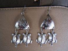 Dangle Earring earing Turtle christmas gift idea by DesignsByMaral