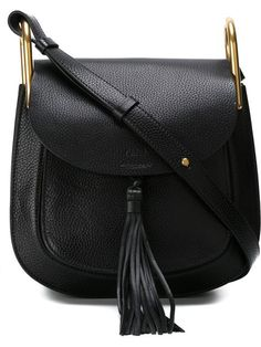 Shop Chloé 'Hudson' shoulder bag in Jean Pierre Bua Fashion Handbags, Tote Handbags, Purses And Handbags, Fashion Bags, Chloe Handbags, Trendy Handbags, Black Handbags, Fashion Trends, Sacs Tote Bags