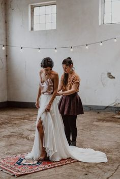 Gorgeous two piece bridal look with a silk, blush tank top and white chiffon skirt with a full length train | image by Kira Stein Photography   #elopementinspiration #bohemianweddinginspo #modernweddinginspo #fallwedding #fallweddinginspo #weddingphotoinspiration #weddingphotoideas #weddingportrait #weddingdress #bridalportrait #bridalstyle #bridalfashion #bridalinspo #bridalinspiration #bride #bridalhair #bridalhairstyle #bridalmakeup #gettingreadyinspo