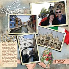 Venice, Italy Scrapbook
